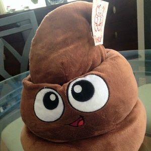 Plush Emoji Poop Hat by Fiesta